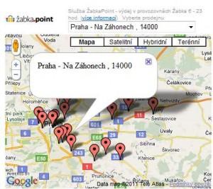 Interaktvivní Google mapa